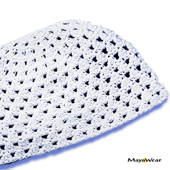 #KUF41C - Pure White Beanie Kufi. 100% Cotton. Made in Guatemala. https://www.mayawear.com