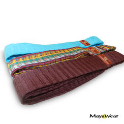 "MayaWear Bundle Bandana   - ""Confetti, Chocolate & Vibe Blue"""