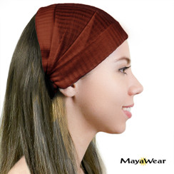"BAND101 - ""Chocolate"" Bandana. 100% Cotton. Made in Guatemala. https://www.mayawear.com"