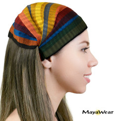 "BAND118 - ""Muted Rainbow"" Bandanna. 100% Cotton. Made in Guatemala. https://www.mayawear.com"