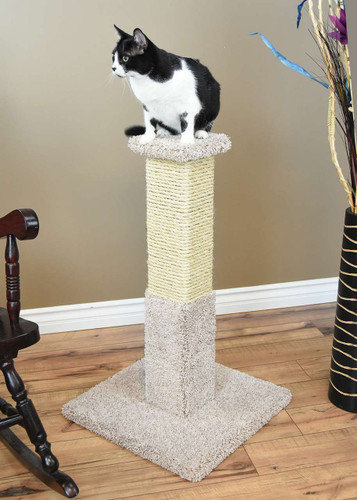 Premier 34-inch Solid Wood Scratching Post