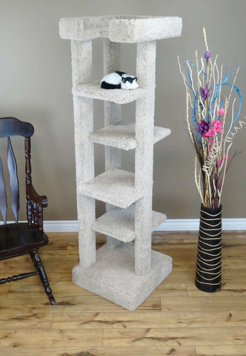 New Cat Condos 5 level 70 inch Cat Tree-Beige