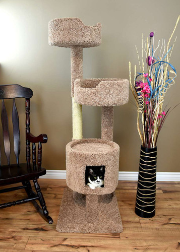 "New Cat Condos 64"" Cat Tower-Brown"
