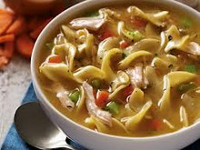 Our Rotisserie Chicken Noodle Soup is bursting with meat, noodles and flavor!