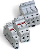 2543100 DIN Rail Fuse Holder 2 Pole 30A 600V LED Blown Fuse Indicator 10X38 mm fuse