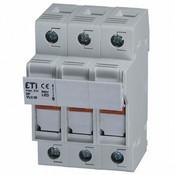 2544100 DIN Rail Fuse Holder 3 Pole 30A 600V AC-22B LED Blown Fuse Indicator 10x38 mm fuse