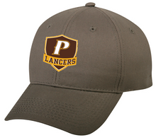 "Youth Adjustable Classic Style Baseball Cap - ""P, or SHIELD"" [colors: White, Gray]"