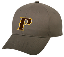 """Youth Adjustable Classic Style Baseball Cap - """"P, or SHIELD"""" [colors: White, Gray]"""