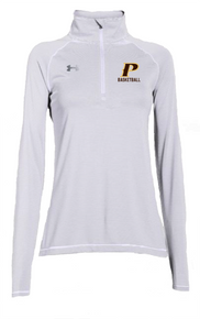 "Ladies Tech MicorStripe 1/4 Zip - ""P-BASKETBALL"""