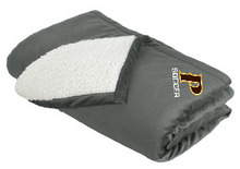 "Mountain Lodge Sherpa Blanket - ""P SOCCER"""