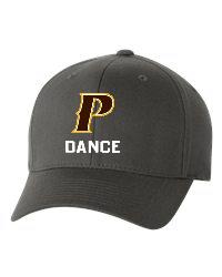 "Adult Flex-Fit Baseball Cap - ""P Dance""  [colors: Brown, White, Grey]"