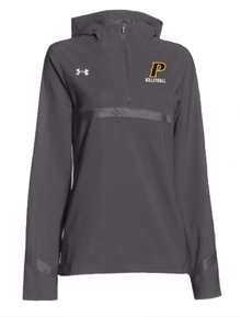 "Ladies Pregame Woven 1/4 Zip - ""P VOLLEYBALL"""