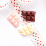 Classic Gloss Chocolate Bar Cabochon - 12 pieces