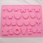LOVE Heart Star Clover Dolly Silicone Mold