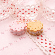 Cookie Cabochon / Dolly Biscuit Kawaii Cabochon Miniature Sweets *Set of 8 pieces*