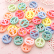 Peace Sign Beads in Candy Color