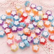 Acrylic Flower Beads or Translucent Beads or Clover Beads