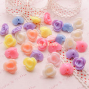 Acrylic Flower Beads in Candy Pastel Colors
