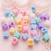 Kawaii Butterfly Beads in Pastel Beads (Big Hole)