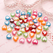 Acrylic Heart Beads or Translucent Beads