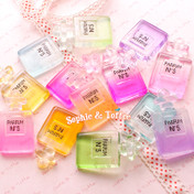Big Gradient Parfum Bottle Charm Cabochon - 6 pieces