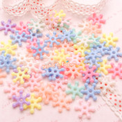 Pastel Candy Snowflake Beads or Charms