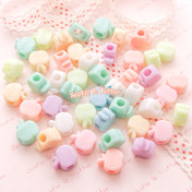 Pastel Color Apple Beads with Big Hole