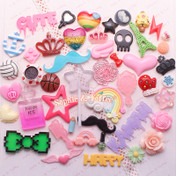 Cabochons Decoden Assortment Mix Grab Bag (Non-Food) - 20pc