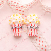 Popcorn Resin Flatback Cabochon *Set of 5 pieces*