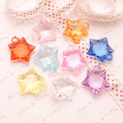 Faceted Acrylic Star Charm or Beads - 50 grams
