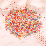 Fake Rainbow Candy Deco Topping Beads (2mm) - 5 grams