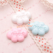 Angel Cloud Resin Cabochon - 12 pieces