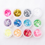 Holographic Glitter Flakes - 12 Colors Pack (10g ea)