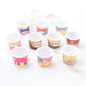 Miniature Ice Cream Cup Charm  - 5 pieces