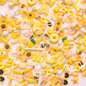 Yellow Theme Cabochons Grab Bag - 20 pieces