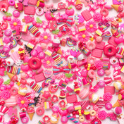 Hot Pink Theme Cabochons Grab Bag - 20 pieces