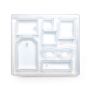 Tags Framed Square Sunglass Silicone Resin Mold