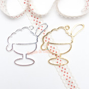 Ice cream Sundae Open Bezel Charm - 3 pieces