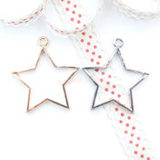 Star Open Bezel Charm - 4 pieces