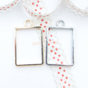 Rectangle Open Bezel Charm - 4 pieces