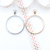 Circle Shape Open Bezel Charm - 3 pieces