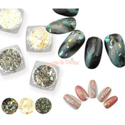 Abalone Seashell Flakes (3 types)