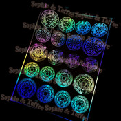 Holographic Magic Circle Design Film (for UV Resin)