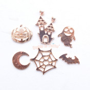 Halloween Metal Embellishment Set - 6 pieces