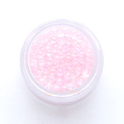 Pink Iridescent Water Bubbles Mermaid Glass Beads (No Hole) - 5g