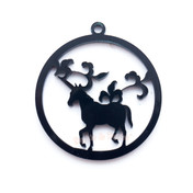 Unicorn Forest Black Bezel Acrylic Charm - 2 pieces