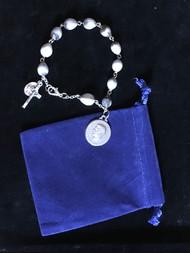 Job's Tear Rosary Bracelet with Bl. Pier Giorgio Frassati Medal