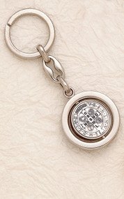 Saint Benedict Medal Keychain
