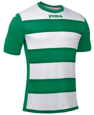 Joma Europa III Football Shirt (Green/White)