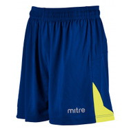mitre Prism Football Shorts Royal Blue/Yellow